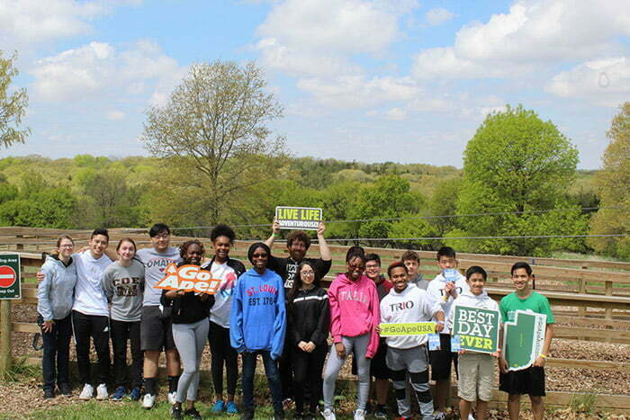 Upward Bound Students Build Teamwork, Self-Confidence at Mahoney State Park