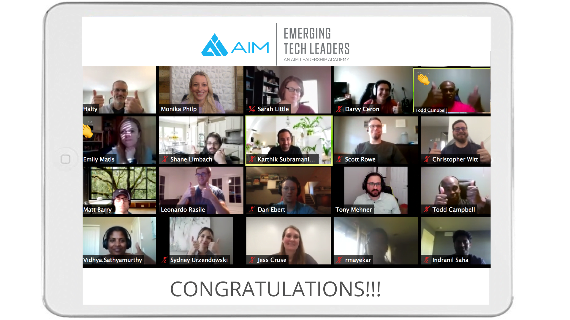 AIM's second all-virtual Emerging Tech Leaders Academy cohort celebrates graduation